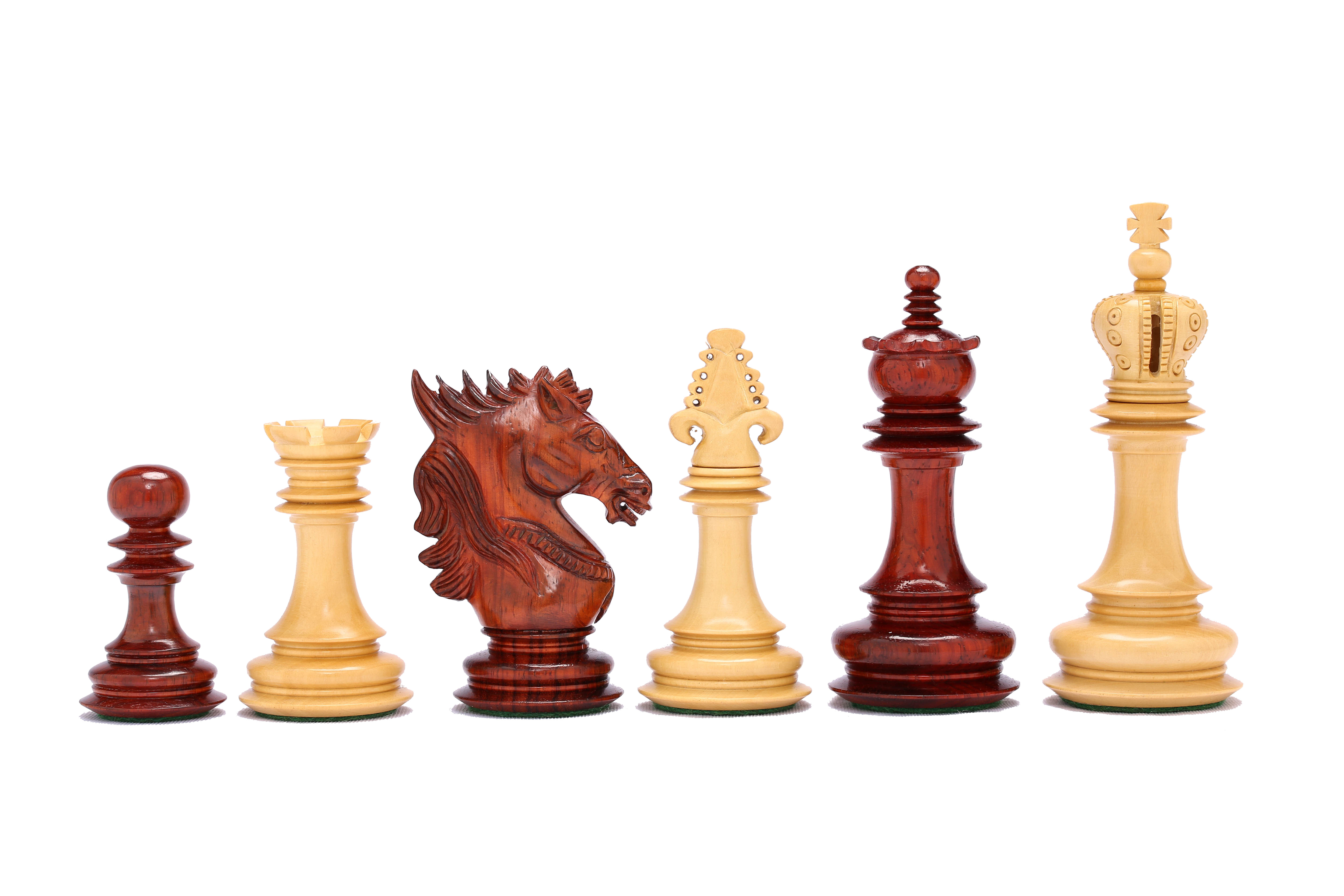 Luxury Chess Pieces Carved In Bud Rose Box Wood 4 6 King
