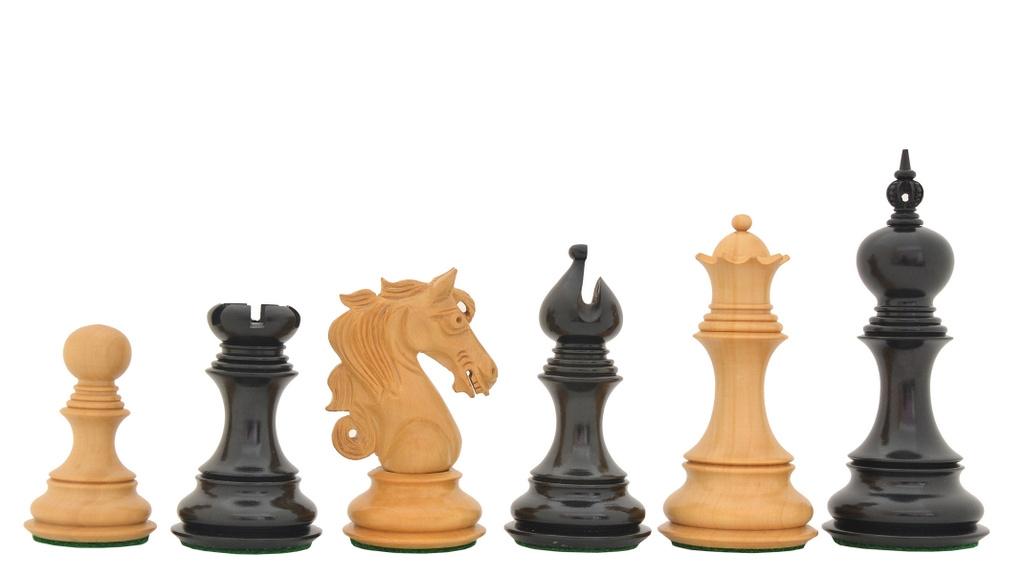 The Admiral Ii Staunton Chess Set In Ebony Wood Box 4 5 King